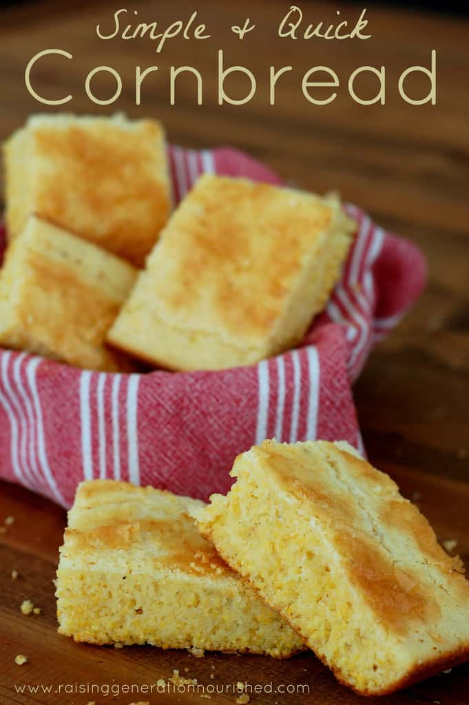 Simple & Quick Gluten Free Corn Bread from Raising Genration Nourished