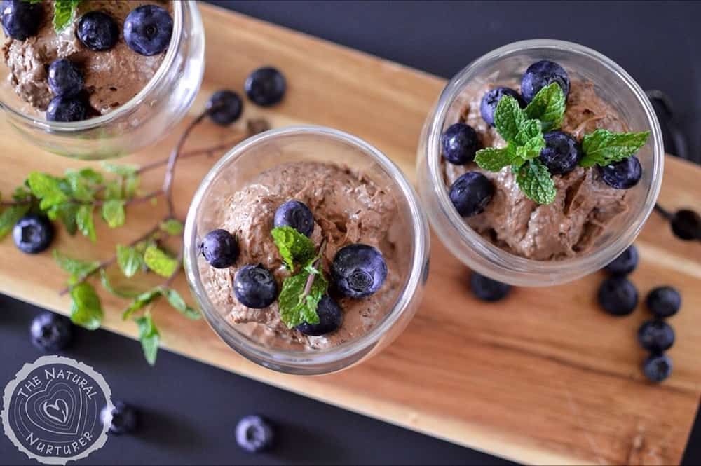 Chocolate Avocado Chia Pudding