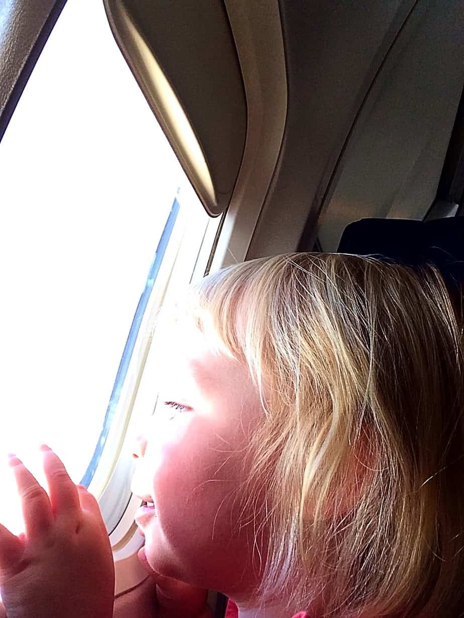 Alice has flown on the regular since she was a newborn, but this is the first time she really understood what an adventure it was. She spent most of the flight, gazing out the window, quietly repeating
