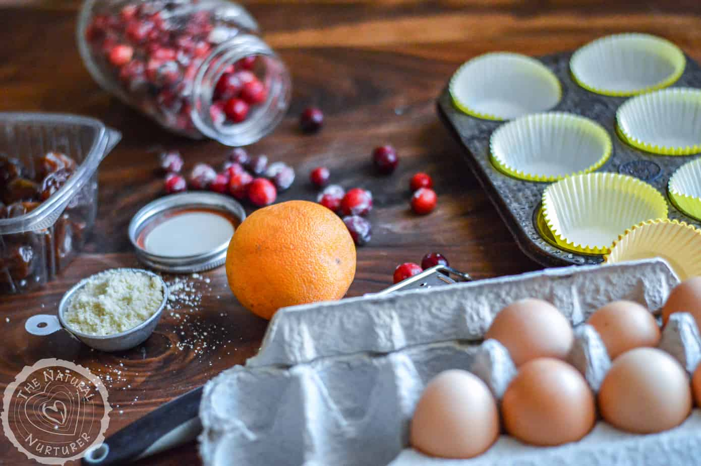 Presenting the ingredients necessary to make this delicious muffins recipe