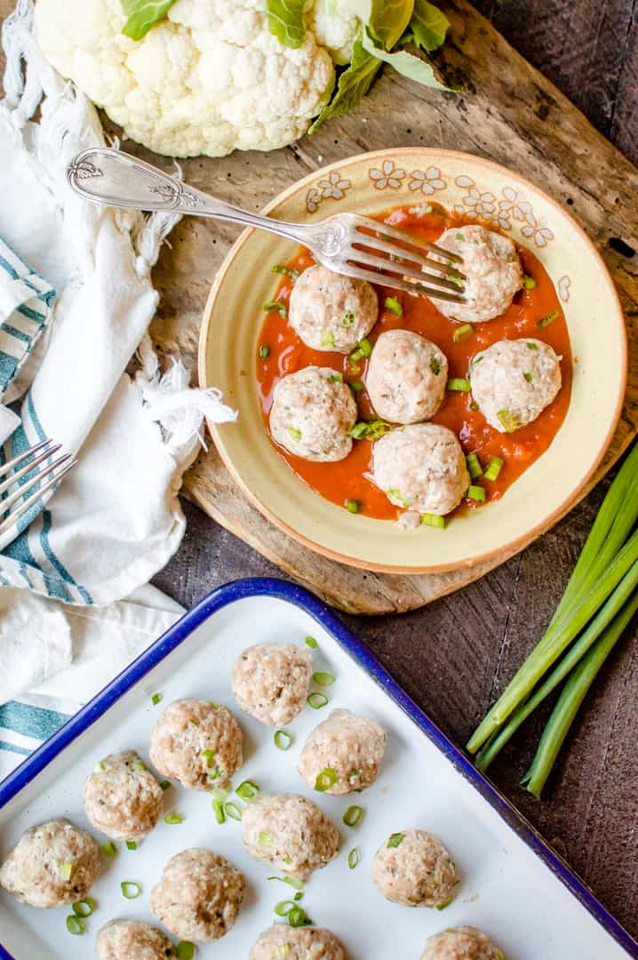 Chicken & Cauliflower Meatballs