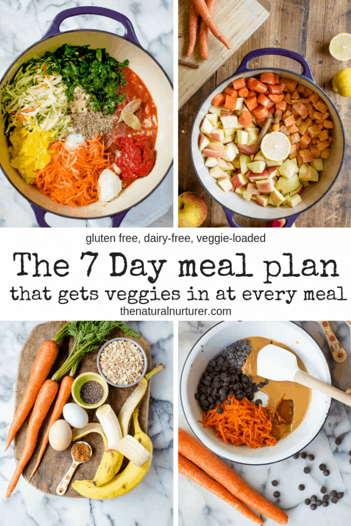 This 7 day meal plan that gets veggies in at every meal is going to change how you eat! Family-friendly with every dish being veggie-loaded in delicious and easy ways!