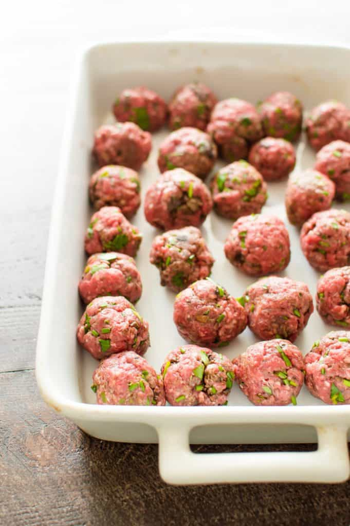 These beef and mushroom meatballs are easy, quick and sure to become a household favorite! Full of flavor, yet made with just 7 ingredients, they are Whole30, Paleo, gluten free, egg-free, and dairy-free.