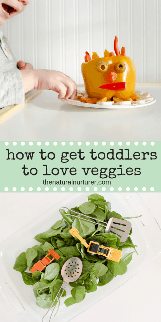 Vegetables are something so many parents and caregivers struggle with when it comes to the toddler years. However, the key for helping young children embrace veggies in their life might start with the simple act of playing with their food!