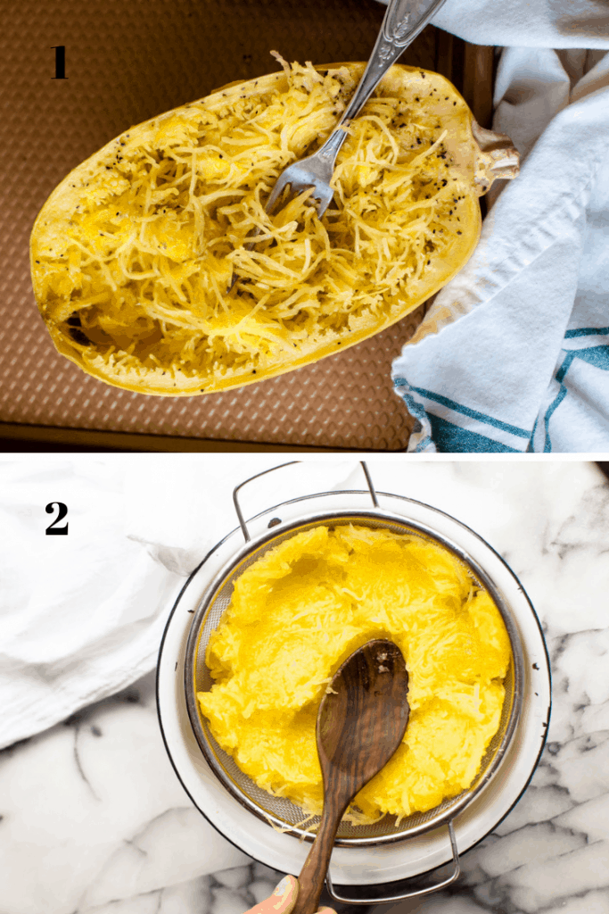 This Spaghetti Squash Pizza Casserole is easy to make and true comfort food. Loaded with veggies, protein and flavor...it is going to become a dinner staple.  Gluten free + veggie-loaded.