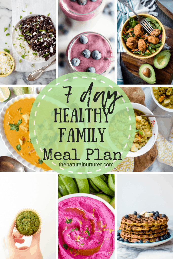 this 7 day healthy family meal plan serves up some of my best tried-and-true tips and tricks, as well and some the most beloved kid-approved recipes out there....making your week of healthy eating and cooking drama free!
