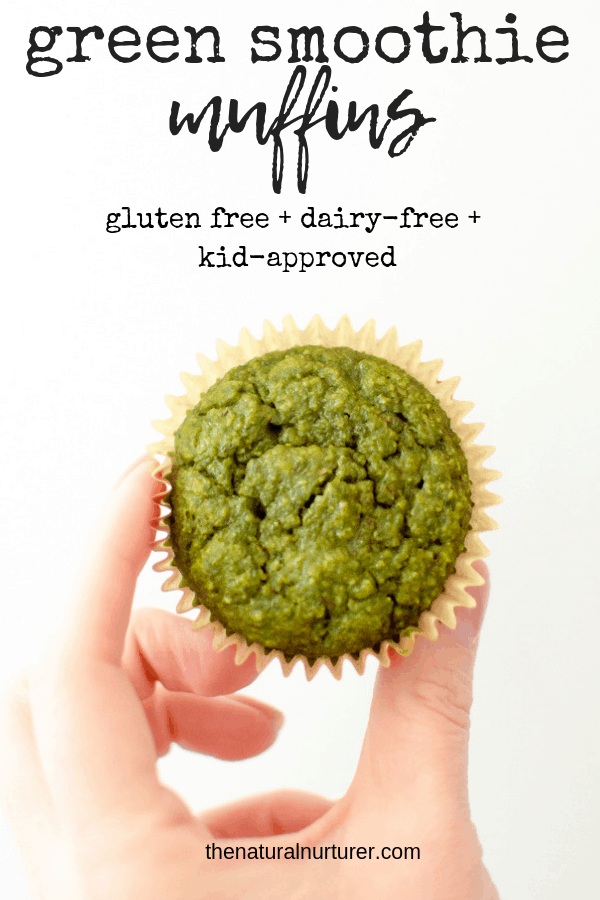 Green Smoothie Muffins are so easy to make and so delicious! Perfectly sweet, soft and packed with healthy greens! They are naturally gluten free, dairy free, naturally sweetened, and loved by all…especially kids! #healthybreakfastrecipe #toddlerrecipes #healthytoddlerrecipes #hiddenveggierecipe