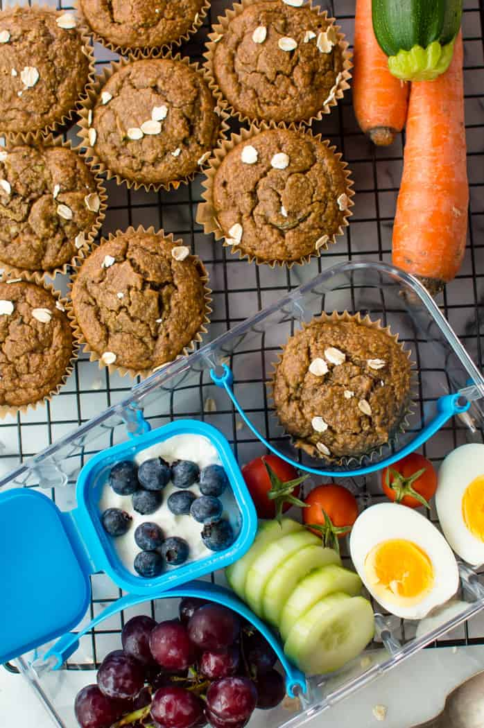 These healthy lunch box muffins are super easy to make and add so much goodness to any meal or snack! Naturally gluten free, packed with vegetables and naturally sweetened, they can easily be made nut free, dairy-free and egg-free.