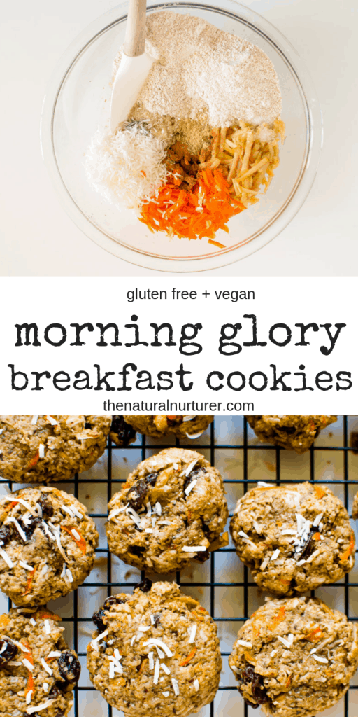 Now these Morning Glory Breakfast Cookies are how to start a day right! The perfect taste and texture, healthy and loaded with amazing ingredients! #Glutenfree #vegan #naturallysweetened #dairyfree #veggieloaded #healthybreakfast