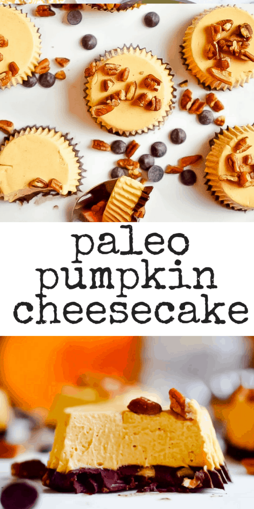 This no-bake mini Paleo Pumpkin Cheesecake recipe makes mini, delicious treats that are made from real food ingredients!#paleocheesecake #paleopumpkinrecipes #rawcheesecake #healthycheesecake