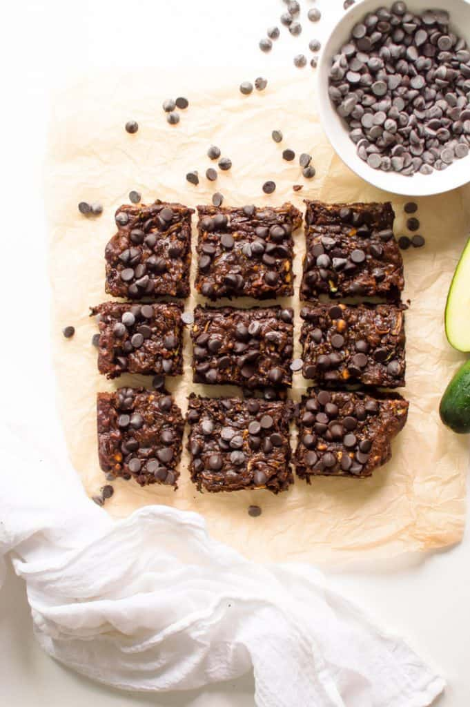 These Gluten Free Brownies (with zucchini) are so fudgy, chocolatey and delicious that no one will ever suspect that they're healthy! Vegan and flourless with Paleo option!