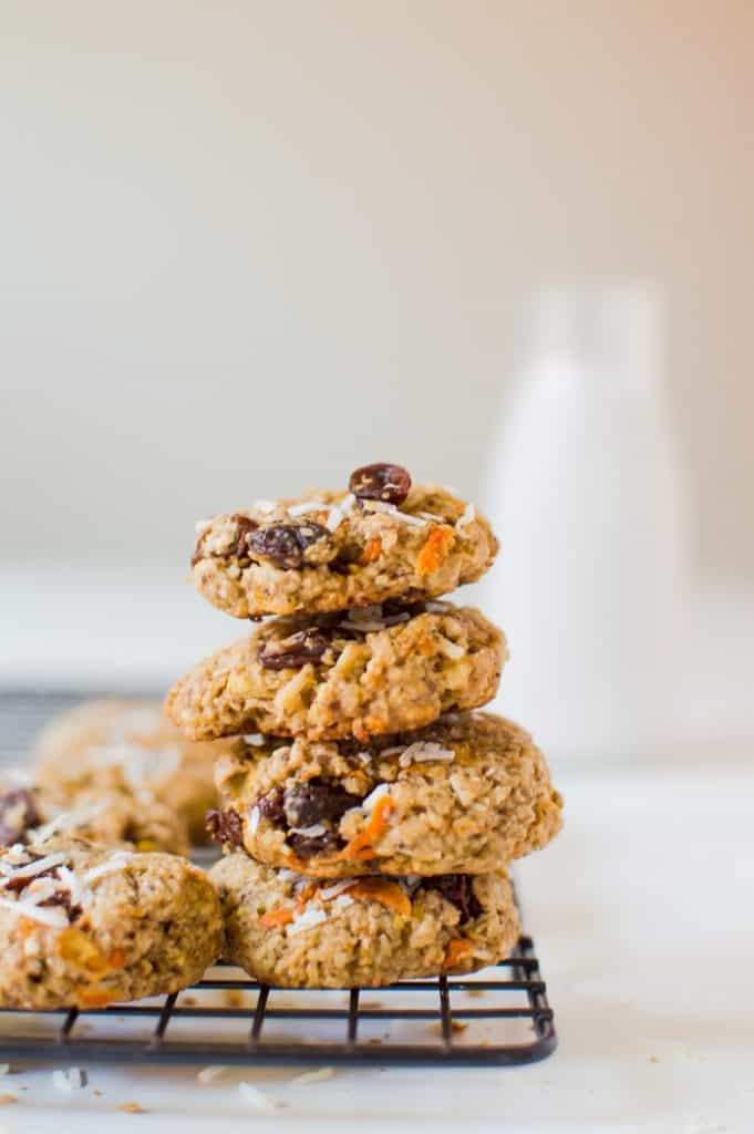 Now these Morning Glory Breakfast Cookies are how to start a day right! The perfect taste and texture, healthy and loaded with amazing ingredients! Gluten free, vegan, and naturally sweetened. These are a morning must-make!
