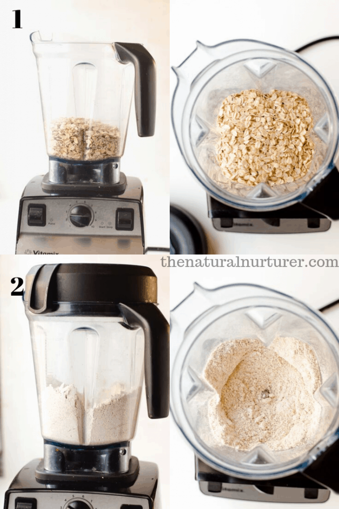 ste-by-step on how to make oat flour