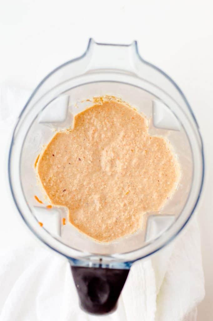 a blender full of pancake batter