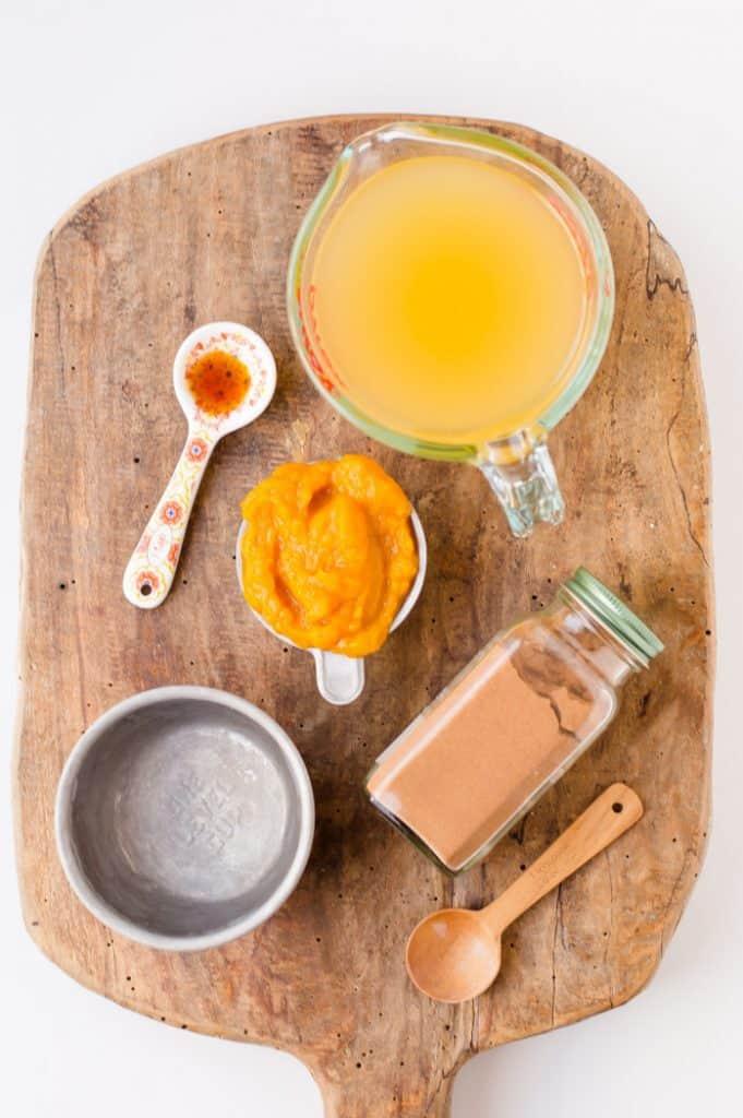 Pumpkin juice ingredients