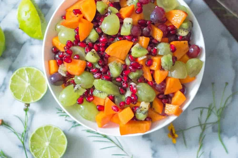 bowl of fall fruit salad