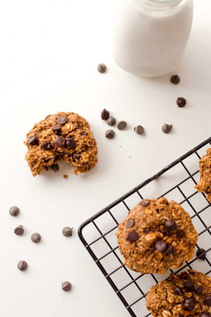 Chocolate Sweet Potato cookies on cookie rack
