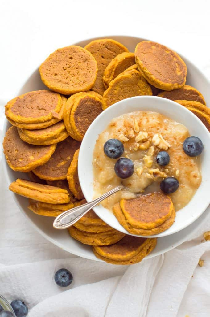 Healthy Sweet Potato Pancakes collage with text overlay