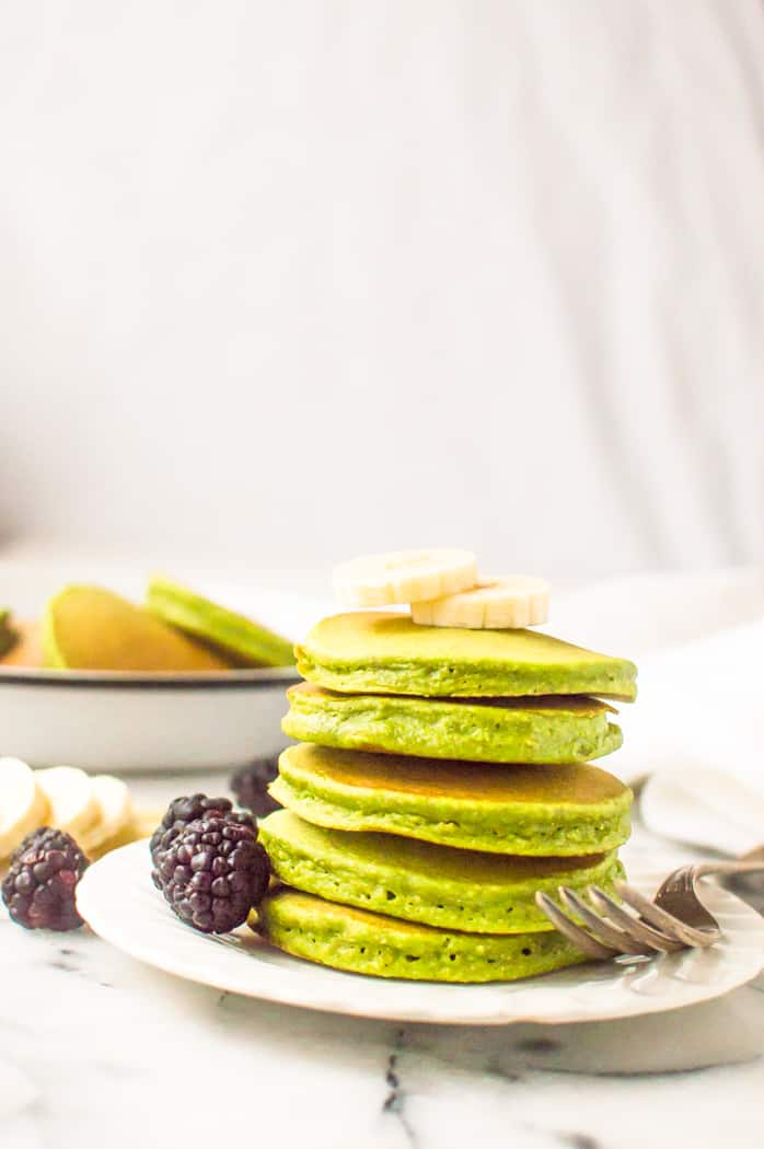 Blender Banana Spinach Pancakes