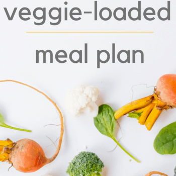 Veggie-loaded meal plan
